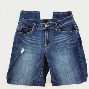 1822 Denim Distressed Stretch Crop Skinny Jeans 10